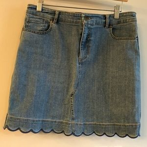 Draper James Denim Scallop Skirt sz 10